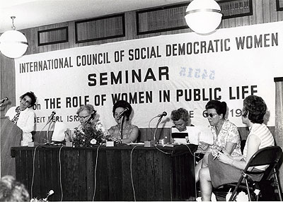 International Council of Social Democratic Women in 1971. Photo: (No information.). Source: ARAB, Morgonbris.