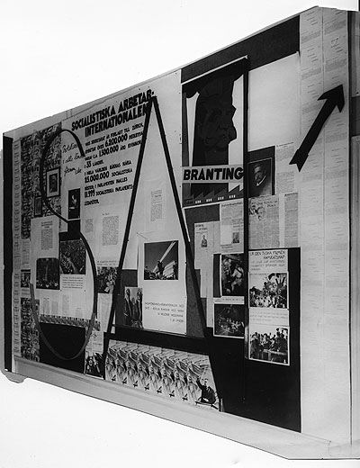 Exhibition on the history of the Socialist International. Photo: Bertil Norberg. Source: ARAB, Morgonbris.