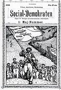 Vykort, Social-Demokratens Första maj-nummer 1899