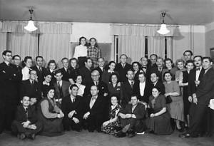 Judiska politiska flyktingar. Avskedsfest 1949 i Stockholm. (ARAB, Fotosamlingen, 3331:2667.)