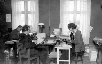 ABF:s centralbyrå i Brunnsvik 1919