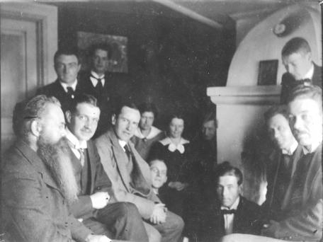 Nils Borgström, Sigrid Hugo och Oscar Olsson, Brunnsvik 1918
