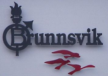 Brunnsviks folkhögskola, fasadskylt, Fotograf: Holger Ellgaard