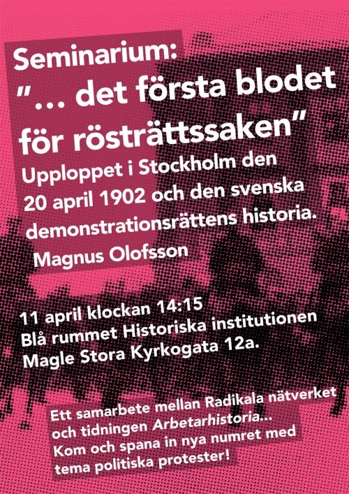 Seminarium: det första blodet för rösträttsaken
