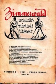 Framsida av Zimmerwald 1919:1
