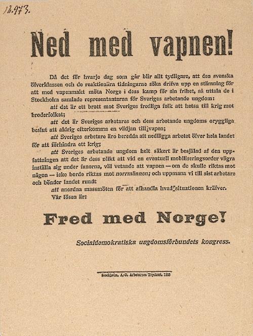 Flygblad Socialdemokratiska ungdomsförbundets arkiv B 01: 2