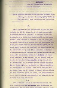Socialdemokratiska riksdagsgruppen. Protokoll 19 mars 1917. volym 1271/A/1/A/1