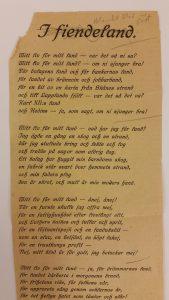 Bild på dikt av Ture Nerman