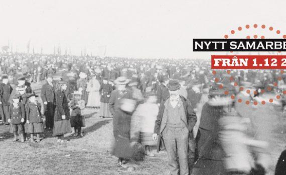 1-maj demonstration Gärdet, Fotosamlingen Arbetarrörelsens arkiv och bibliotek