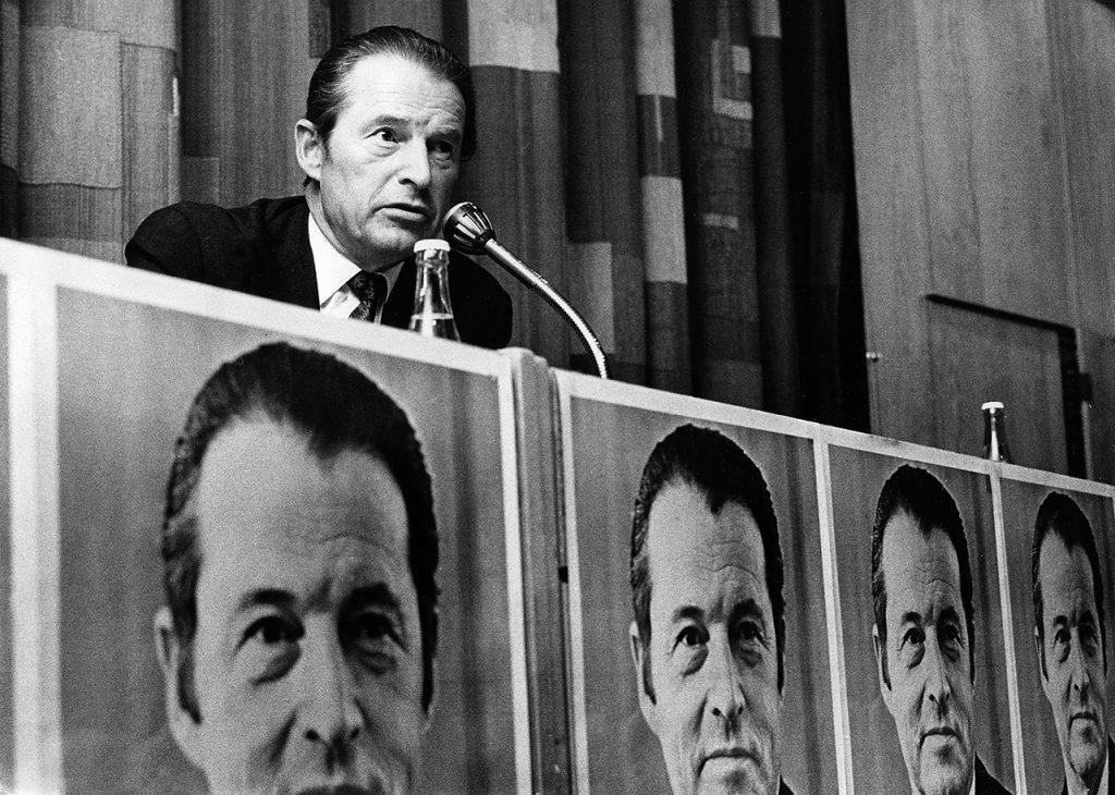 Curt Nicolin, ordförande för SAF, under storkonflikten 1980.