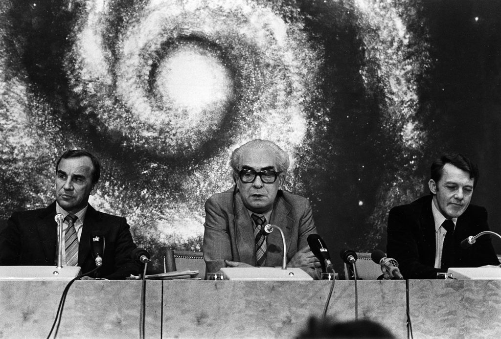 LO-ordförande Gunnar Nilsson under storkonflikten 1980.