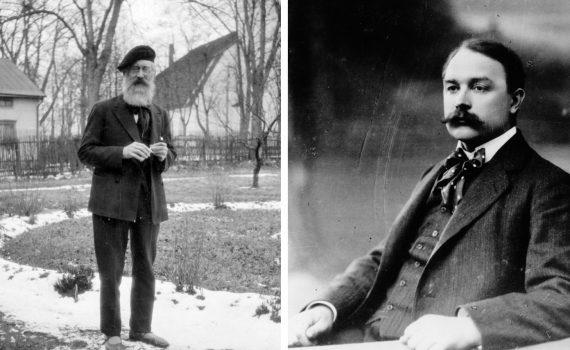 De tidiga arbetarförfattarna Martin Koch och Alfred Kämpe.