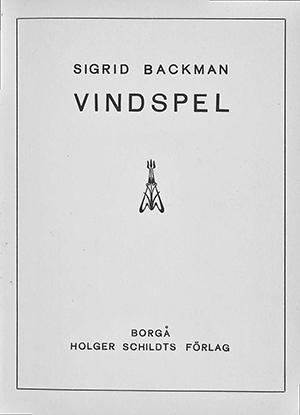 Omslag till romanen Vindspel av Sigrid Backman.