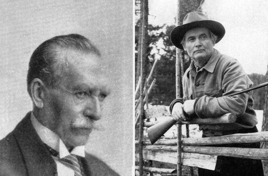 De tidiga arbetarförfattarna Elf Norrbo och Albert Viksten.