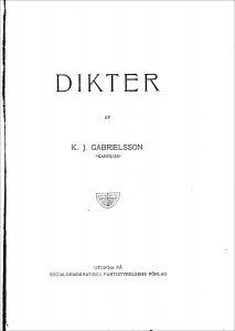 """Lästips: """"Dikter"""" av Karl Johan Gabrielsson."""