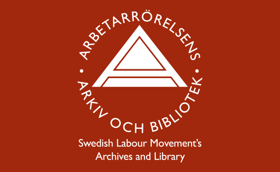 ARAB:s logotyp i vitt mot röd bakgrund.