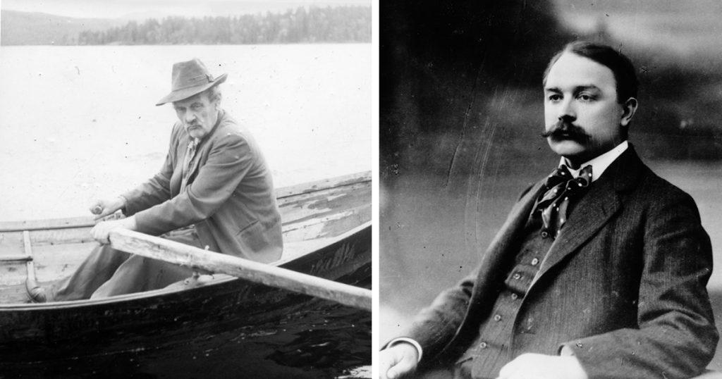 De tidiga arbetarförfattarna Gustav Hedenvind-Eriksson och Alfred Kämpe.
