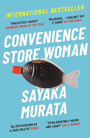 Bokomslag i turkost till Convenience Store Woman.
