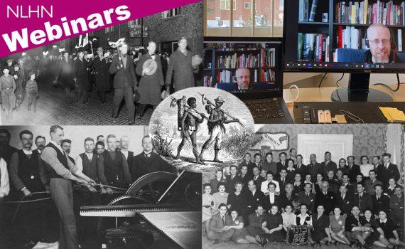 Collage med bilder från NLHNs seminarier våren 2021.