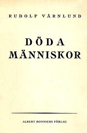 """Omslag till """"Döda människor"""" av Rudolf Värnlund."""