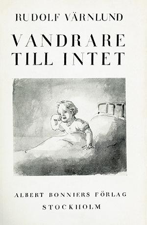 """Omslag till """"Varndrare till intet"""" av Rudolf Värnlund."""
