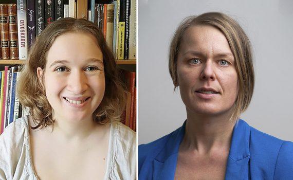 Meidnerpristagarna 2019 och 2020: Astrid Elkjær Sørensen och Desirée Enlund.