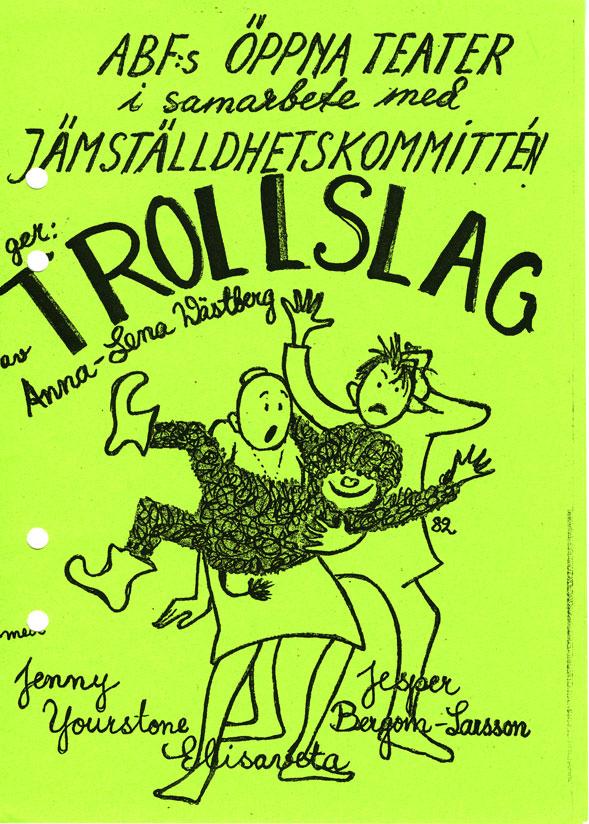 Reklambroschyr för barnföreställningen Trollslag
