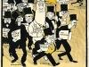 Affisch: Högern tågar ut i valkampen (1911). Konstnär: C A Jacobsson (JAC)