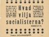 Affisch: Hvad vilja socialisterna? (1900)