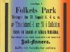 Affisch: Stor fäst anordnas i Folkets Park ... i Hallsbärg. (1908)