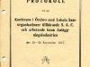 Framsidan av protokollet från de syndikalistiska anläggningsarbetarnas konferens i Örebro 1917