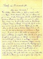 Brev på esperanto, sidan 1. Anarkistiska esperantogruppens arkiv, volym 3.