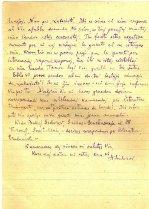 Brev på esperanto, sidan 2. Anarkistiska esperantogruppens arkiv, volym 3.