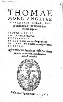 Thomas More: Utopia (1563)