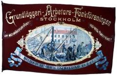 Stockholms grundläggeriarbetarefackförenings fana