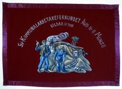 Svenska Kommunalarbetareförbundets avdelning 111, Munsö. Fana.