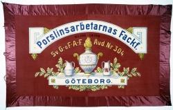 Porslinsarbetarnas fackförening i Göteborg. Fana.