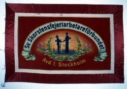 Svenska Skorstensfejeriarbetareförbundets avdelning 1, Stockholm. Fana.
