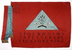 Stockholms Tapetserarefackförenings fana