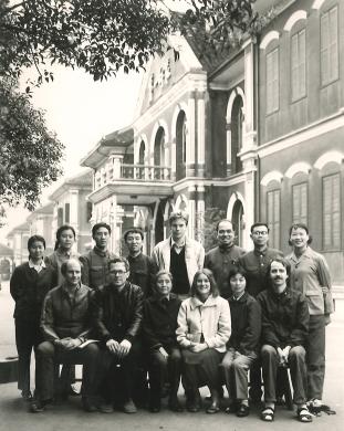 Gunnar Ohrlander avbildad med kinesiska kamrater