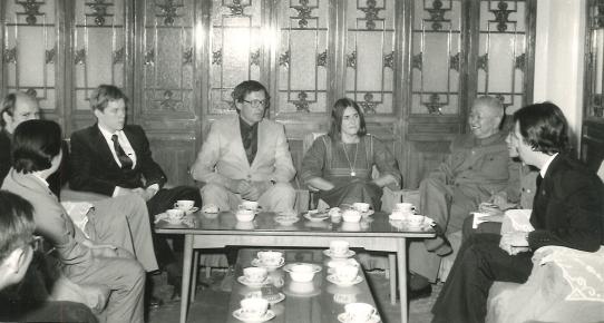 Gunnar Ohrlander avbildad med kinesiska kamrater 1970-tal