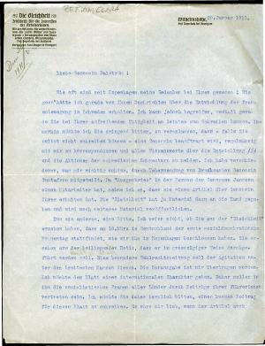 Zetkin to Dalström 20/1 1911