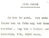 Första sidan av det outgivna manuskriptet till memoarerna Mitt sekel.