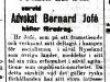 Mötesannons i Social-Demokraten den 7 oktober 1907