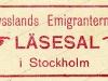 Stämpel: Rysslands emigranternas läsesal i Stockholm