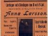 Affisch: Arbetarsångerskan Anna Larsson i Oxelösunds Folkets Park 1911