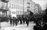 Första maj-demonstration i Stockholm 1917