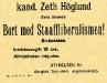 Bild 04. Bort med Staaffliberalismen!, 1908