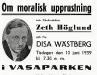 Bild 10. Om moralisk upprustning, 1939