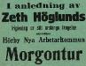 Bild 05. Zeth Höglunds frigivning ur sitt årslånga fängelse, 1917